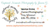 business card design for photographer
