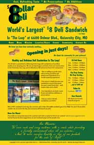 one page deli website