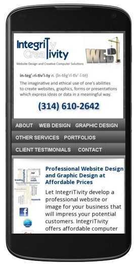 mobile friendly web design in Foristell, MO.