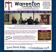 custom church website
